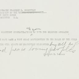 Telegram: 1938 September 28