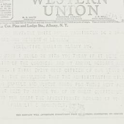 Telegram: 1939 January 2