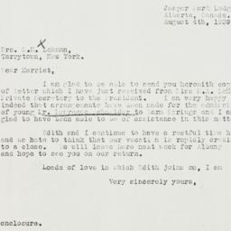 Letter: 1939 August 4