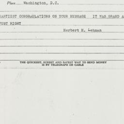 Telegram: 1939 September 21