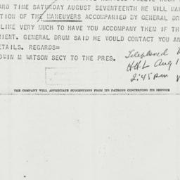 Telegram: 1940 August 13