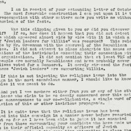 Letter: 1940 November 1