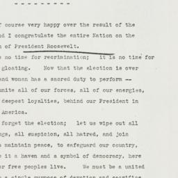 Speech: 1940 November 6