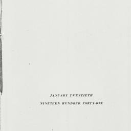 Pamphlet: 1941 January 20