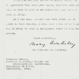 Letter: 1943 September 3