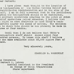 Letter: 1943 November 4