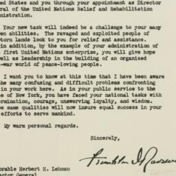 Letter: 1943 December 7