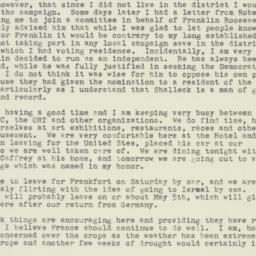 Letter : 1949 April 19