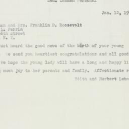 Telegram : 1952 January 12