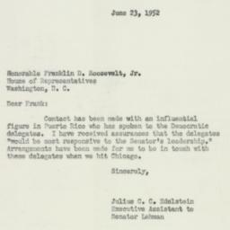 Letter : 1952 June 23
