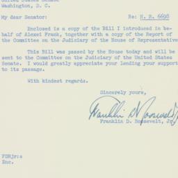 Letter : 1954 February 2
