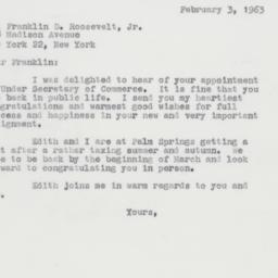 Letter : 1963 February 3