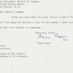 Letter : 1955 April 13