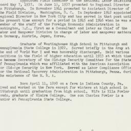 Ephemera: 1952 February 27