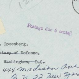 Envelope: 1954 October 12