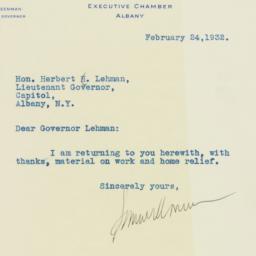 Letter : 1932 February 24