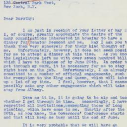 Letter : 1939 May 25