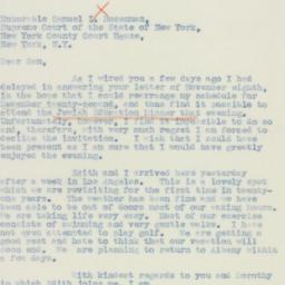 Letter : 1940 November 23