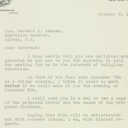 Letter : 1941 October 9