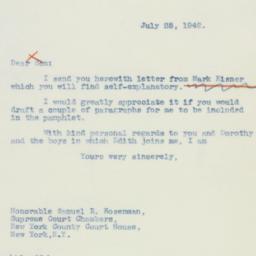 Letter : 1942 July 25