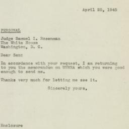 Letter : 1945 April 25