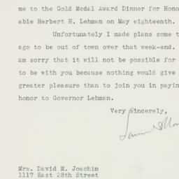 Letter : 1947 May 9