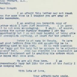 Letter : 1941 October 22