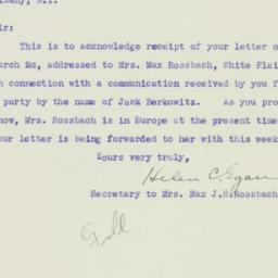 Letter : 1935 March 5
