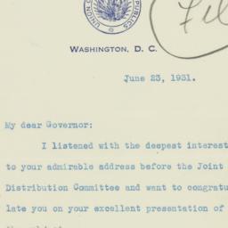Letter : 1931 June 23