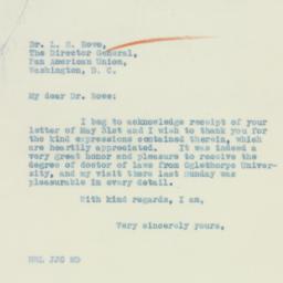 Letter : 1933 June 2