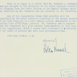 Letter : 1955 August 1