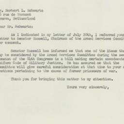 Letter : 1955 August 5