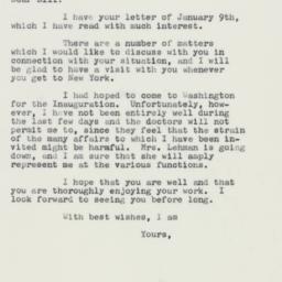 Letter : 1961 January 17
