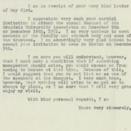 Letter : 1951 May 30