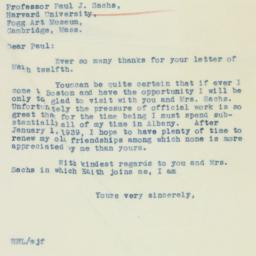 Letter : 1937 March 13