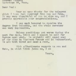 Letter : 1958 June 5