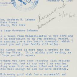 Letter : 1940 February 6