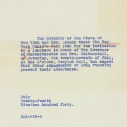Letter : 1940 July 24