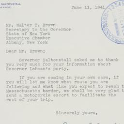 Letter : 1941 June 11