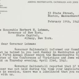 Letter : 1942 February 19