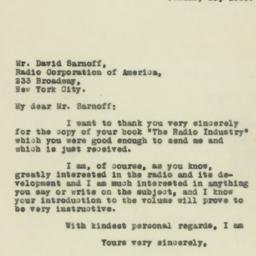 Letter : 1929 January 16
