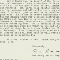 Letter : 1947 January 11
