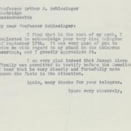 Letter : 1951 October 20