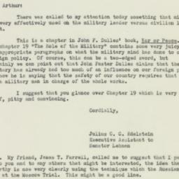 Letter : 1952 October 29
