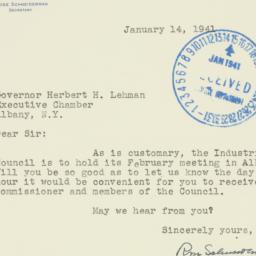 Letter : 1941 January 14