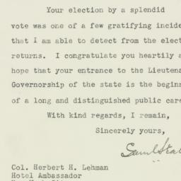 Letter : 1928 November 8
