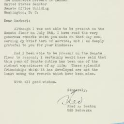 Letter : 1952 August 3