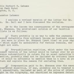 Letter : 1953 August 4