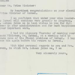 Letter : 1953 December 14