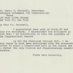 Letter : 1950 April 14